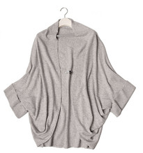100% goat cashmere women's fashion cape poncho cardigan sweater