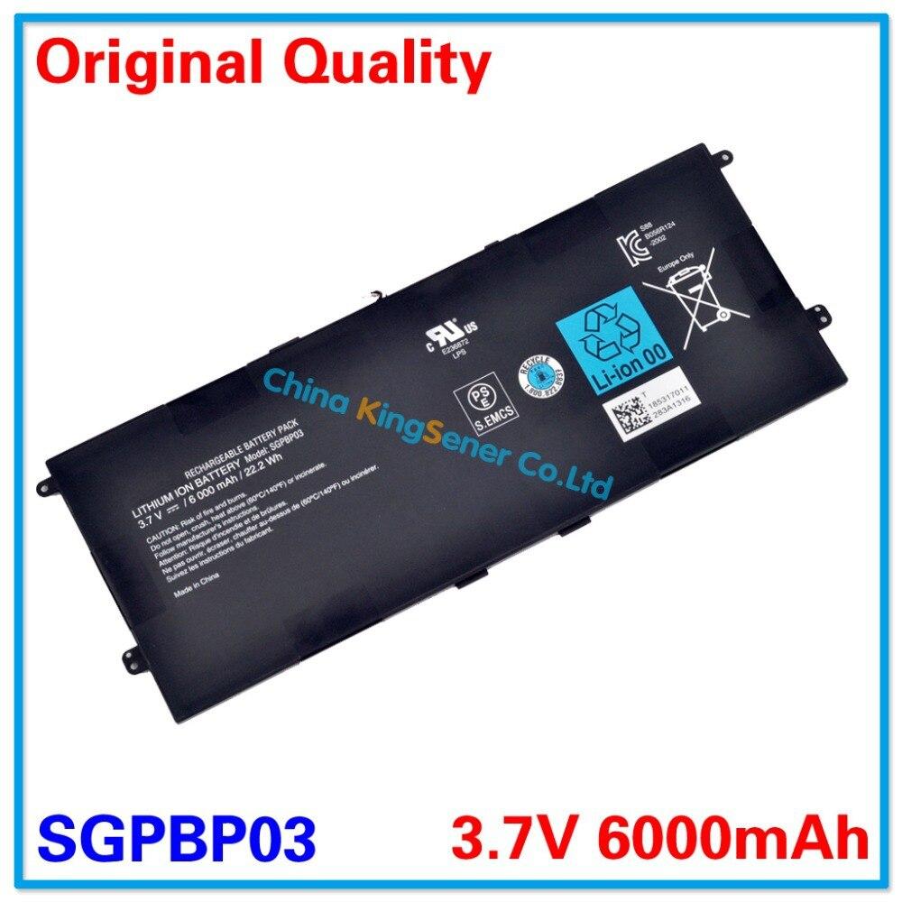3.7V 6000mAh KingSener Original SGPBP03 Laptop Battery For SONY Xperia Z S Tablet SGPT1211 SGPT121US/S SGPT1311 SGPT131ES/S