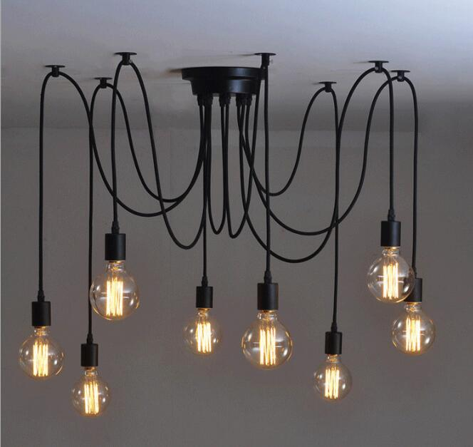 5pcs 6head+5pcs 8head Pendant Light Restaurant Modern Clothing Store Loft Spider No Bulb 5pcs ht16k33 sop28