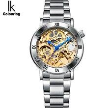 IK Women Tourbillon Automatic Self-Wind Mechanical Watch Luxury Fashion Brand Waterproof Women Watches relogio feminino