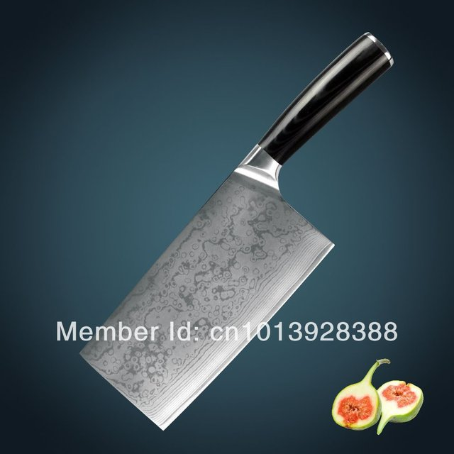 damascus kitchen knives sideboard buffet huiwill brand luxury japanese vg10 carbon steel chef cleaver chopper knife with micarta handle