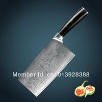 Huiwill Роскошные брендовые Дамаск кухонные ножи японский VG10 углеродистой стали кухня шеф повара Тесак/Чоппер нож с micarta Ручка