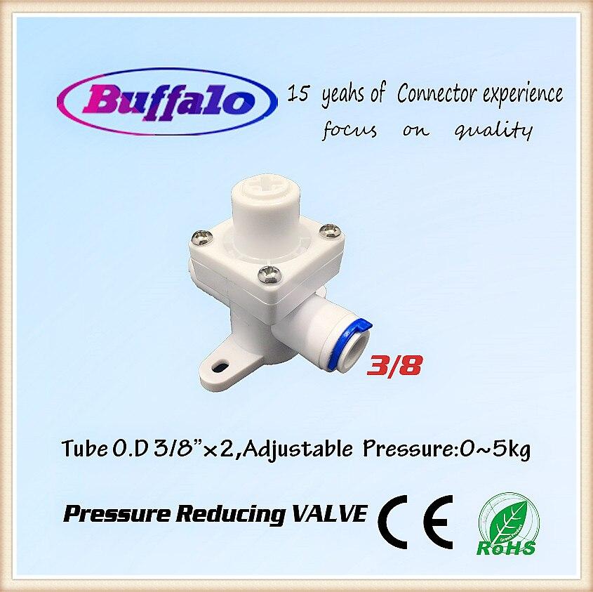 3/8 OD пробки Quick pushfit Давление снижение Регулятор Фильтра Клапан для воды RO обратного осмоса Аквариум Системы 1 шт.