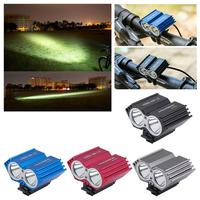 Bicycle Light T6 Long Range All Aluminum Rechargeable USB Car Headlights Mountain Bike L2 Night Strong Light