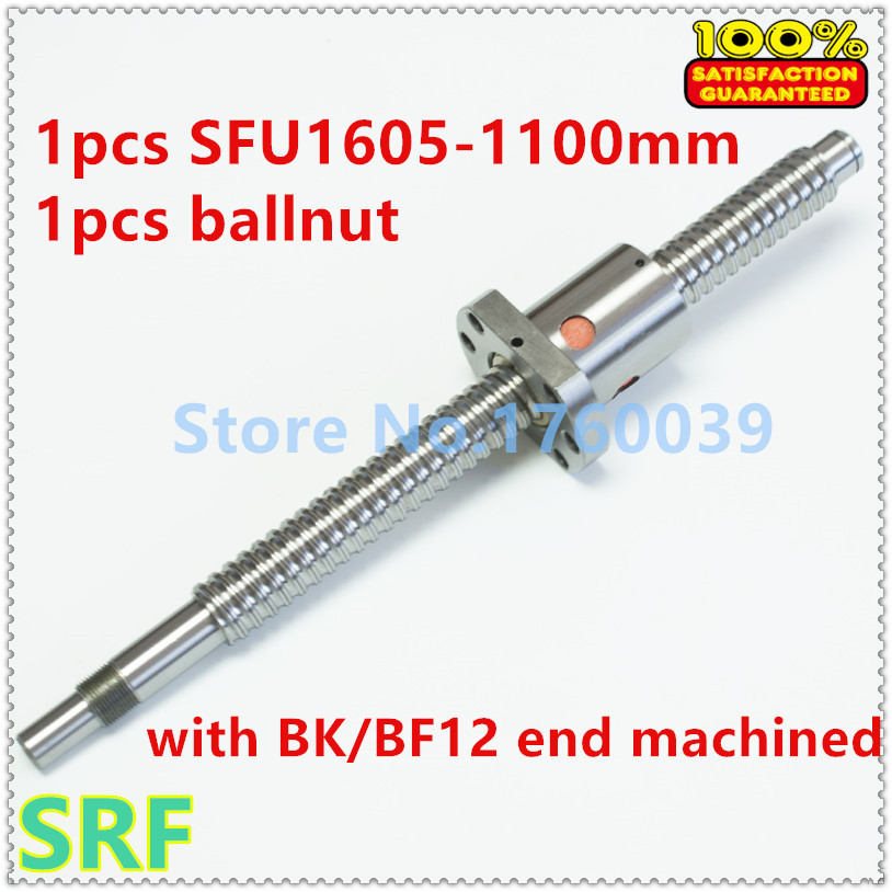 ФОТО Zero Backlash 1pcs 16mm SFU1605 Ballscrew L=1100mm with SFU1605 Ballscrew nut for CNC Part
