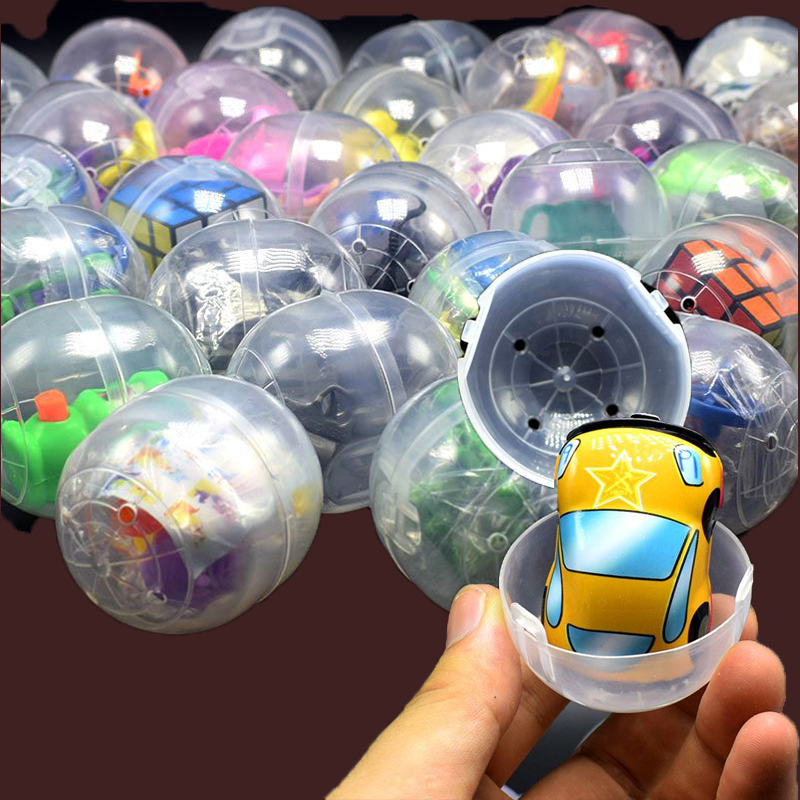 10pcs/lot Mini Surprise Egg With Funny Toys Animals Gun Car Cube Magic Collection Toys Gift For Kids #E