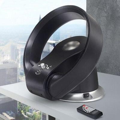 tischboden elektrische blattloser ventilator mit fernbedienung 110 v 220 v keine klinge ventilator luftgeblse - Blattloser Deckenventilator
