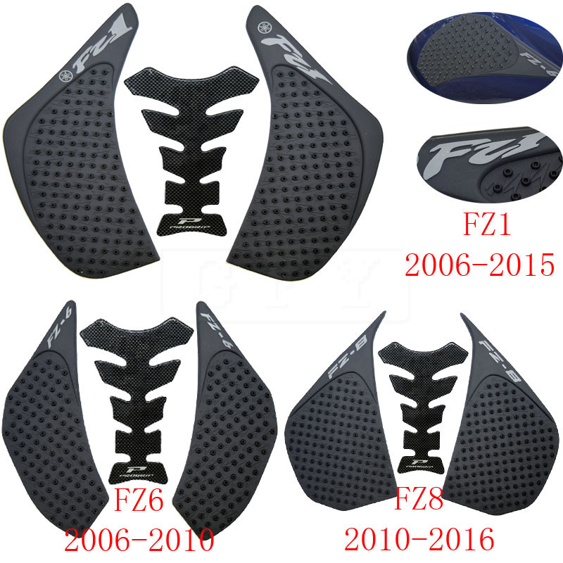 For Yamaha Fz1 Fz-1n Fz1n Fz1s Fz 1s 2006 2007-2016 Protector Anti Slip Tank Pad Sticker Decal Gas Knee Grip Traction Side 3m Decals & Stickers Motorcycle Accessories & Parts