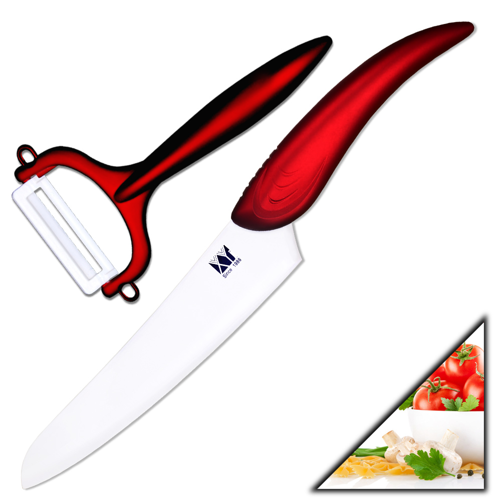 Handmade kitchen knives 6 inch chef knife+red peeler beauty gift of ...