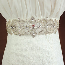 Rhinestone  Sash Bridal Belt Ivory or White Satin Flower Girl Briesmaid Wedding