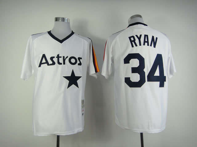 best website 1a49a 50fdb houston Astros #34 nolan ryan jersey Rainbow Throwback ...