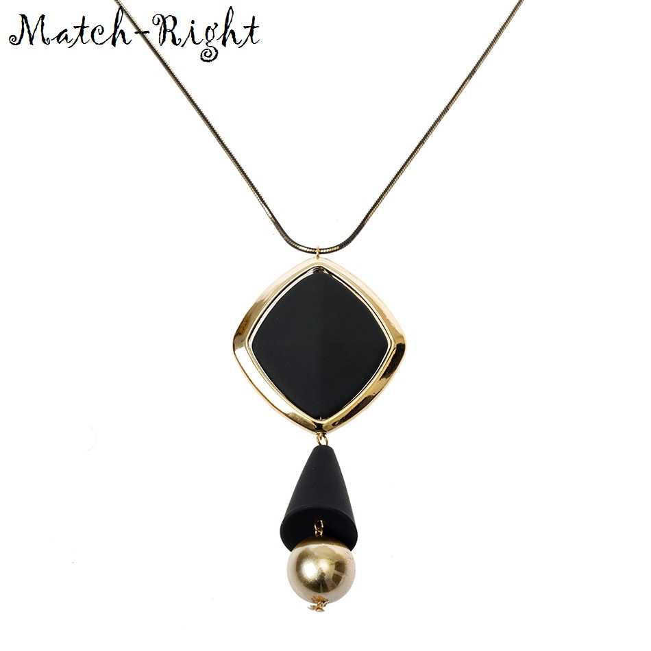 Match-Right Women Maxi Necklaces & Pendants Statement Custome Sweater Necklace With Pendant for Women Cute Jewelry SP017