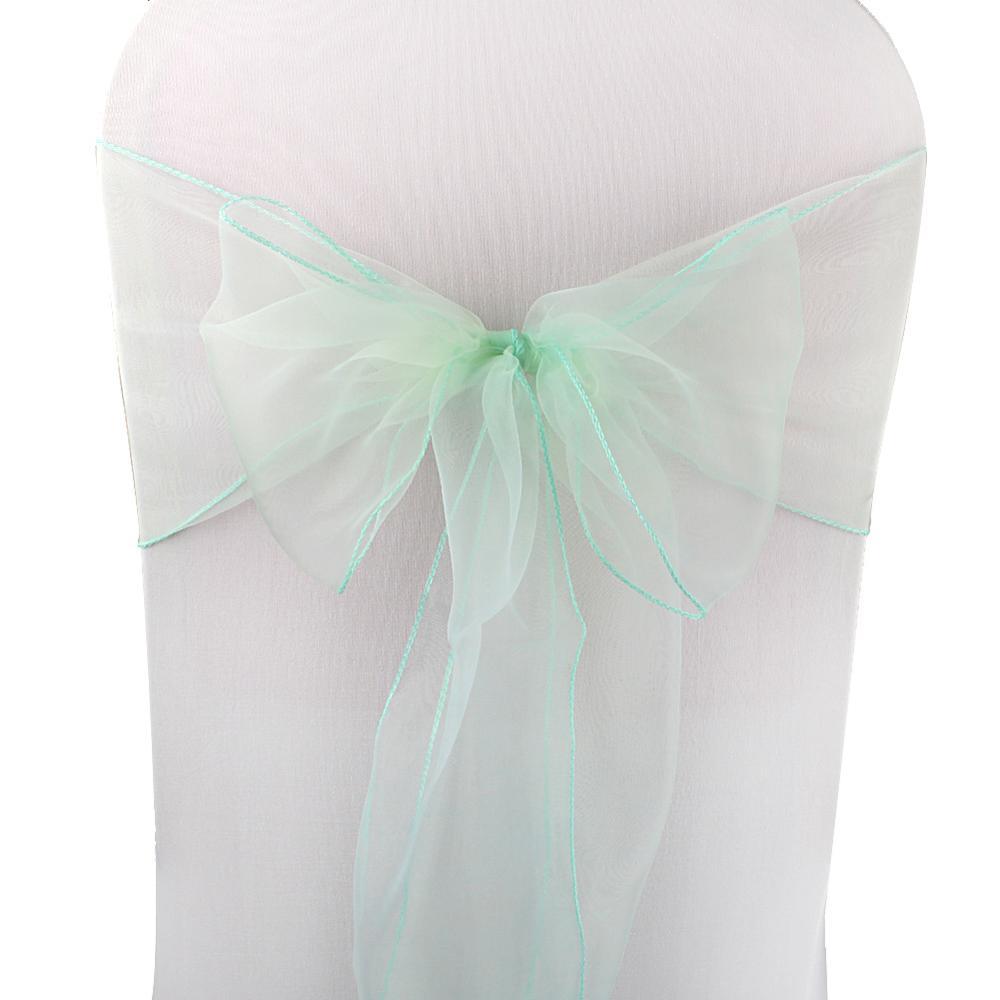 OurWarm, 18x275 см, органза, пояс для стула, бант, Чехол для стула, тюль, для свадьбы, вечеринки, банкета, Рождества, украшение, домашний текстиль - Цвет: ABC