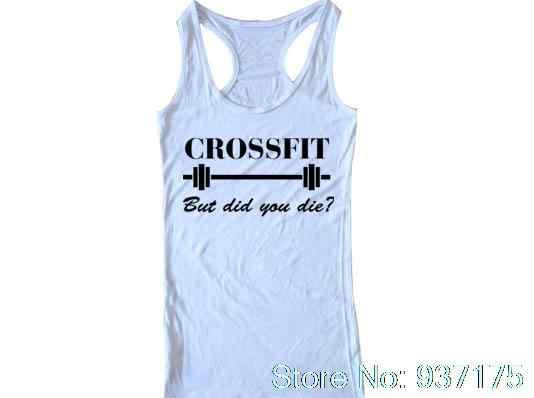 07b846ebc1327 ... Crossfit But Did You Die Tank Funny Crossfit top Unisex Womens T-shirt  Crop Tank