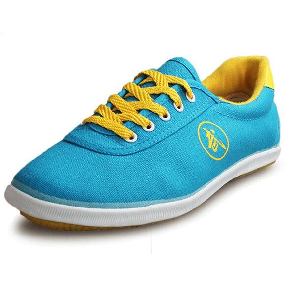 Высокое качество тай-чи Обувь ребенка в школу белые спортивные Обувь Боевые искусства Для мужчин Для женщин Тайцзи Wu Шу обуви кунг-фу 5 видов цветов - Цвет: BLUE 1