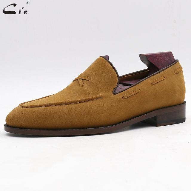 Ci'e – Men's, breathable, genuine calf leather handmade men's elegant slip-on casual flats.