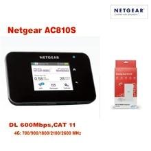 цена на New Arrival Original Unlocked Netgear 600Mbps Aircard AC810S 4G LTE Cat11 Mobile Hotspot Plus 49db antenna