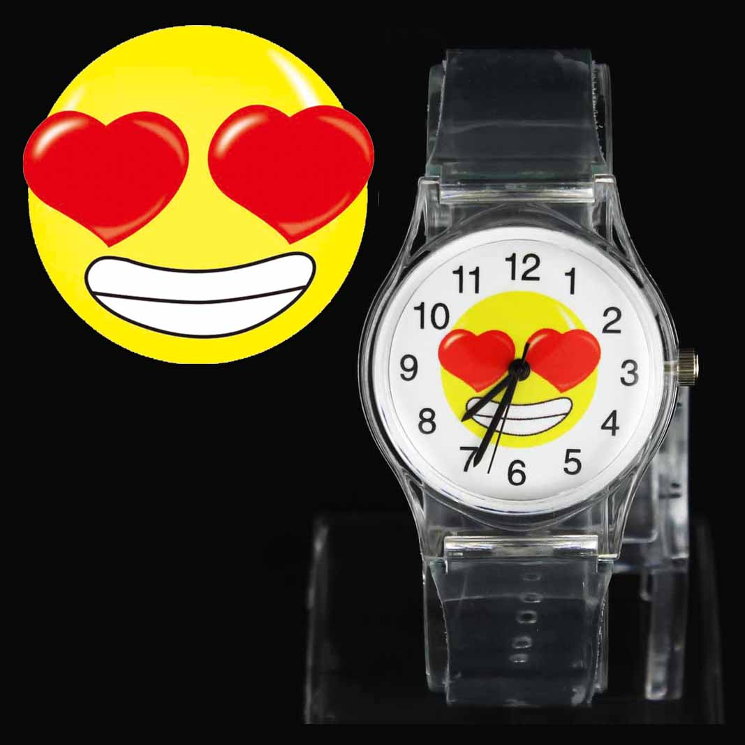 Funny Naughty  Kiss Fun Face Watches Emoji Emoticon Women Men Fashion Sport Gift Quartz Wrist Watch