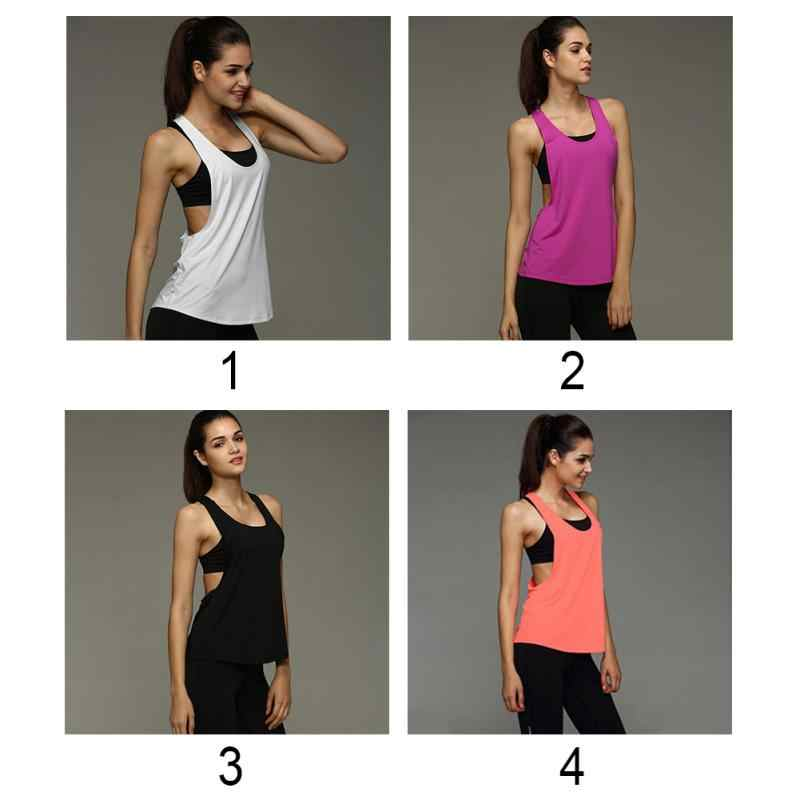 289349c66ed ... Plus Size Summer Sexy Fitness Clothes Women Tank Tops Loose Workout  Sleeveless Quick Dry Vest Singlet