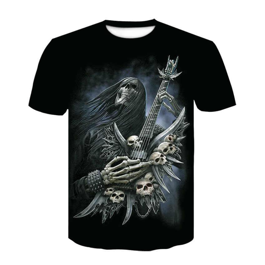 2019 חדש אש הדרקון גברים של מזדמן חולצה קיץ 3D המודפס עגול צוואר מגניב חולצה רחוב אופנה מגמת נוער היפ הופ חולצת T-s