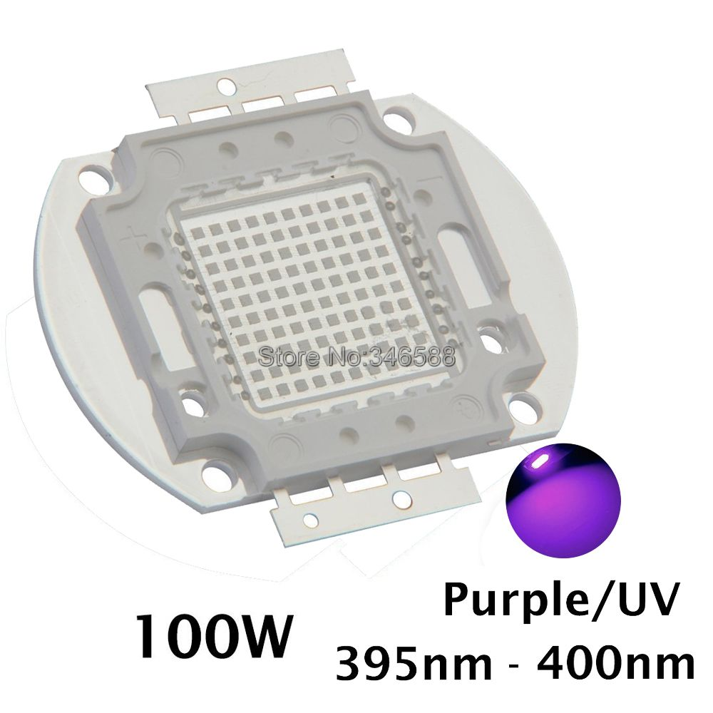 100W Epileds 42Mil Ultra Violet UV High Power Light Chip 365nm-370NM,380nm-385nm,395-405nm,420nm-425nm DIY COB Light Source 10w 12w ultra violet uv 365nm 380nm 395nm high power led emitting diode on 20mm cooper star pcb