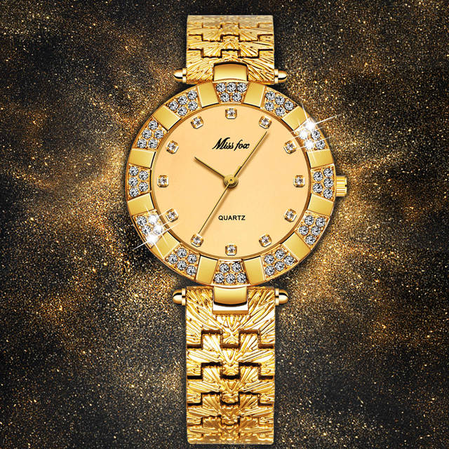c1c708bf43a Online Shop MISSFOX Women Watches Luxury Brand Fashion Casual Ladies Watch  Women Quartz Diamond Geneva Lady Bracelet Wrist Watches For Women