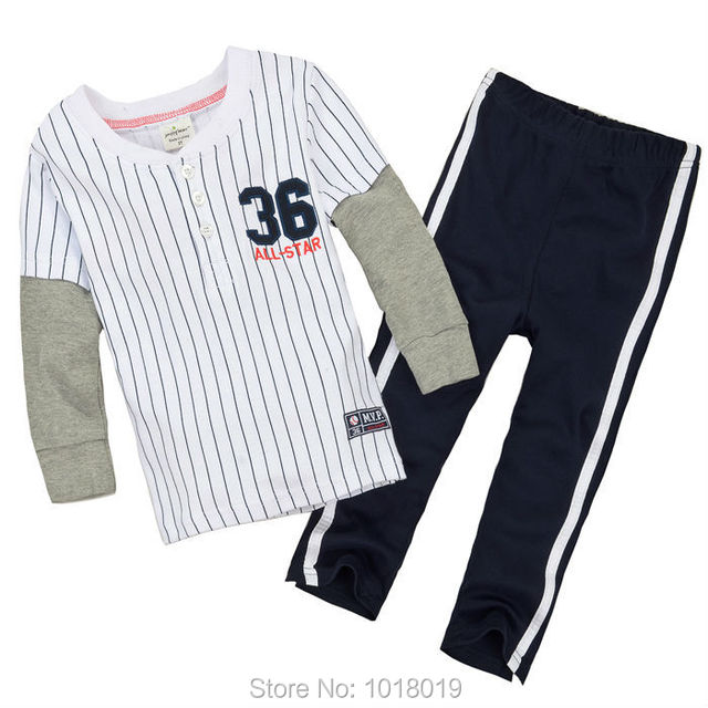 New 2017 Brand Quality 100% Cotton Baby Boys Clothing Sets Children's Suits Kids Long Sleeve Clothes Sets Boys Baby Sets Outwear
