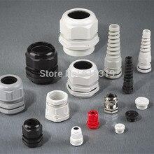 100 шт./лот PG7 Кабельный ввод IP68 водонепроницаемый разъем Dim 3-6,5 мм нейлоновые пластиковые проволочные сальники FS0120
