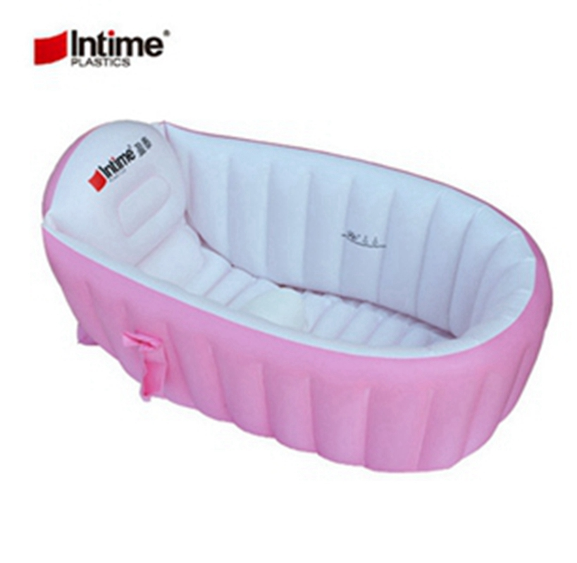 Inflatabel Pool kiddieTub Portable children bathtubs kid Swimming Pool baby Wash basin 96x60x30CM Blue Pink