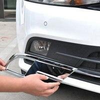 Carro ABS Cromo frente Fog Tampa Luz guarnição para VW JETTA MK6 2015-2016
