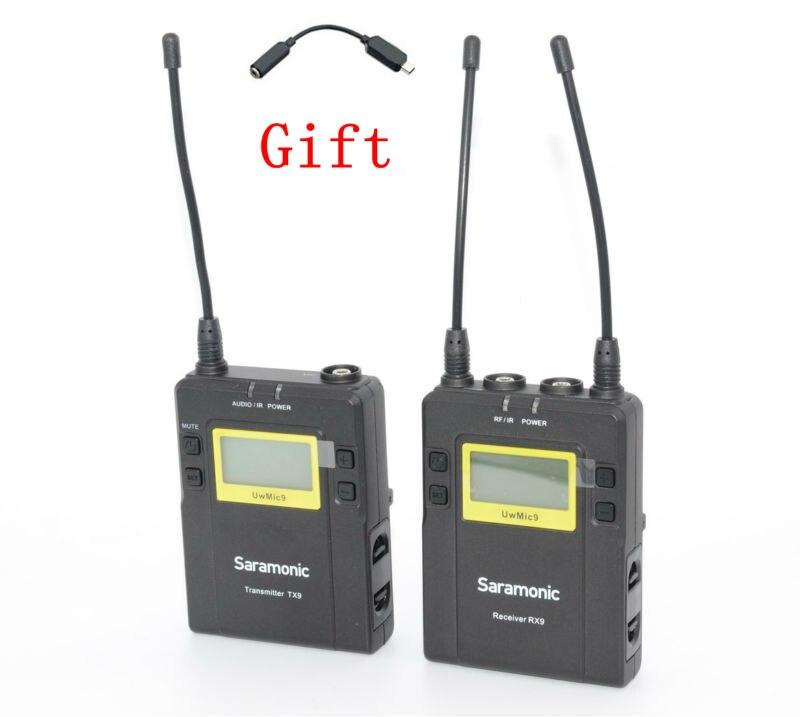 Saramonic UwMic9 (RX9 + TX9) Diffusion UHF Sans Fil Micro-cravate Système pour dslr Caméscopes
