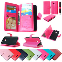 Luxury PU Leather Flip Stand Magnetic Wallet Case For Nokia Microsoft Lumia 640 Book Style Phone