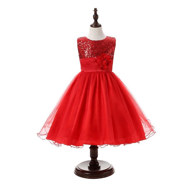 New Girl Wedding Dress Summer Girls Clothes 2016 Kids Party Dress for Girls Cute Flowers Princess Dresses Girls Lace Dress