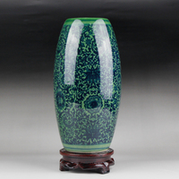 Small Classic Jingdezhen Traditional Antique Blue and White Chinese Porcelain Flower Vase For Home Office Decor