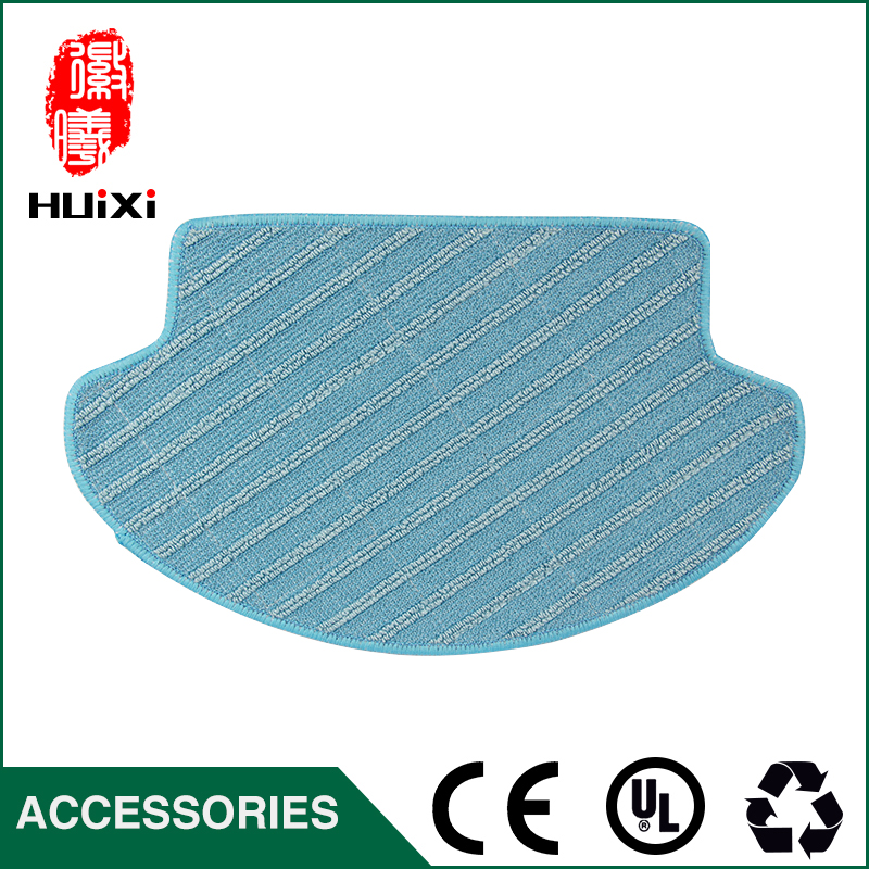 Washable Dishcloth Blue and White Cleaning Mop Cloth to Cleaning Floor for DT85 DT83 DM81 Robot Vacuum Cleaner Parts 4 pcs white microfibre steam mop cleaning floor washable replacement pads compatible for x5 h20 series dust cleaner part