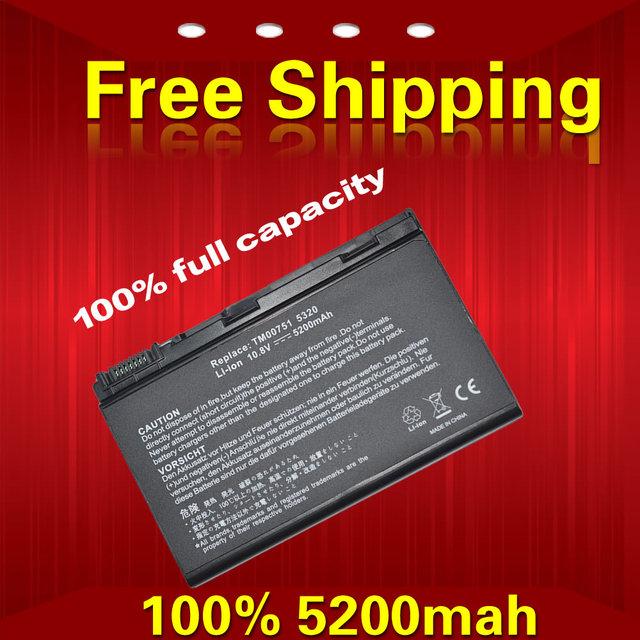 5200 mah grape32 batería del ordenador portátil para acer extensa 5220 travelmate 5520