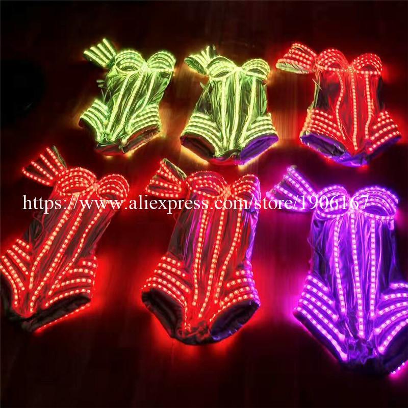 New Performance Prop Women Dance Accessories Girls DJ LED costumes Light Up Costume 04