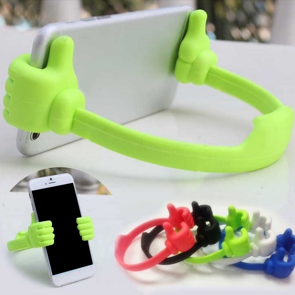 Adjustable Lazy Thumb Desktop Mount Stand Portable Bracket Mobile Phone Holder Cell Stand Support For iPhone X 7