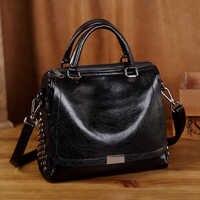 Luxus Marke Handtaschen Frauen Taschen Designer Echtem Leder Taschen Für Frauen 2019 Messenger Casual Schulter Taschen Bolsa Feminina T12