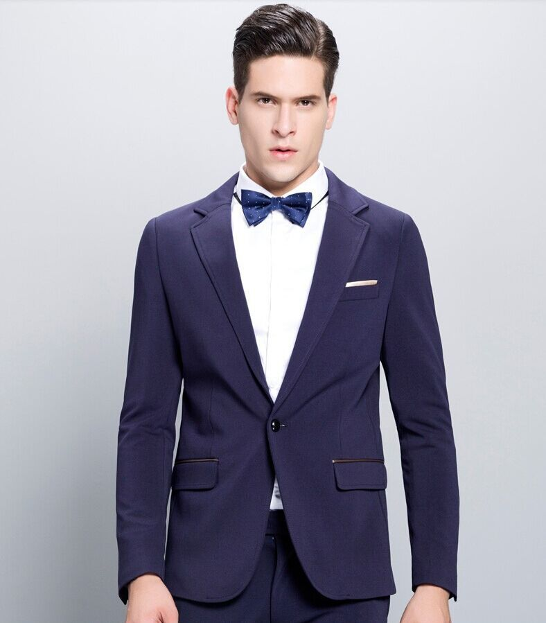 Fashionable Young Men Suits (Jackets Pants) Tie 2015 High Quality