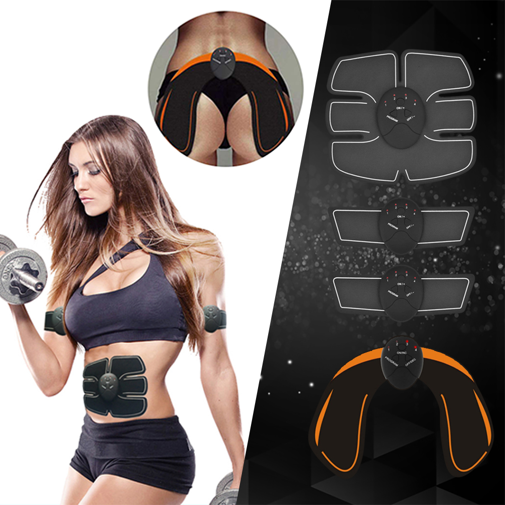 EMS Abdominal Muscle Stimulator Trainer Hip Trainer Body Slimming Fat Burning Vibration Fitness Equipment Gym Weight Loss Unisex