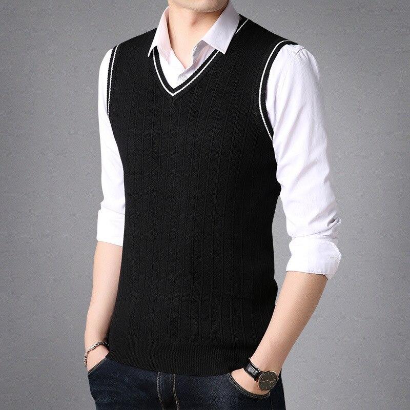 Begeistert Herren Pullover New Jugend Sleeveless Superfluity Reine Farbe Männer Strickwaren Mode Warme Weste Sleeveless