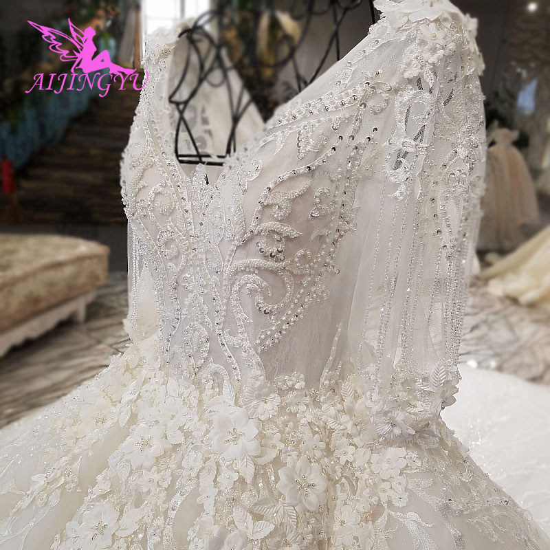 AIJINGYU Wedding Dresses Plus Size Simple 2018 Korean Marriage For Bride South Africa Design Arabic Wedding Dress Attire