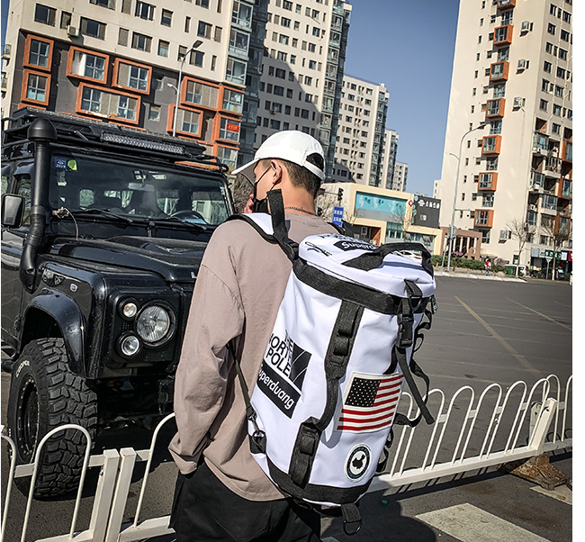 New Trend Men Casual Cloth Backpack High Capacity Unisex Streetwear Couple Bag Teenager Big Travel Bags Hip Hop Mochila D877