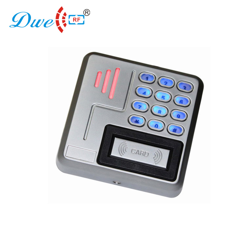 DWE CC RF access control card reader metal case backlight keypad reader rain proof chip pin reader