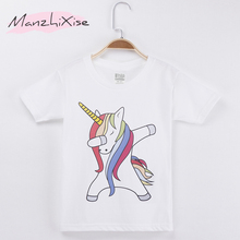Fashion Kids Tee Shirts Children T-shirt Dabbing Unicorn Top Cotton Child Shirt Boys Tees Girl Short Sleeve T Boy Clothes