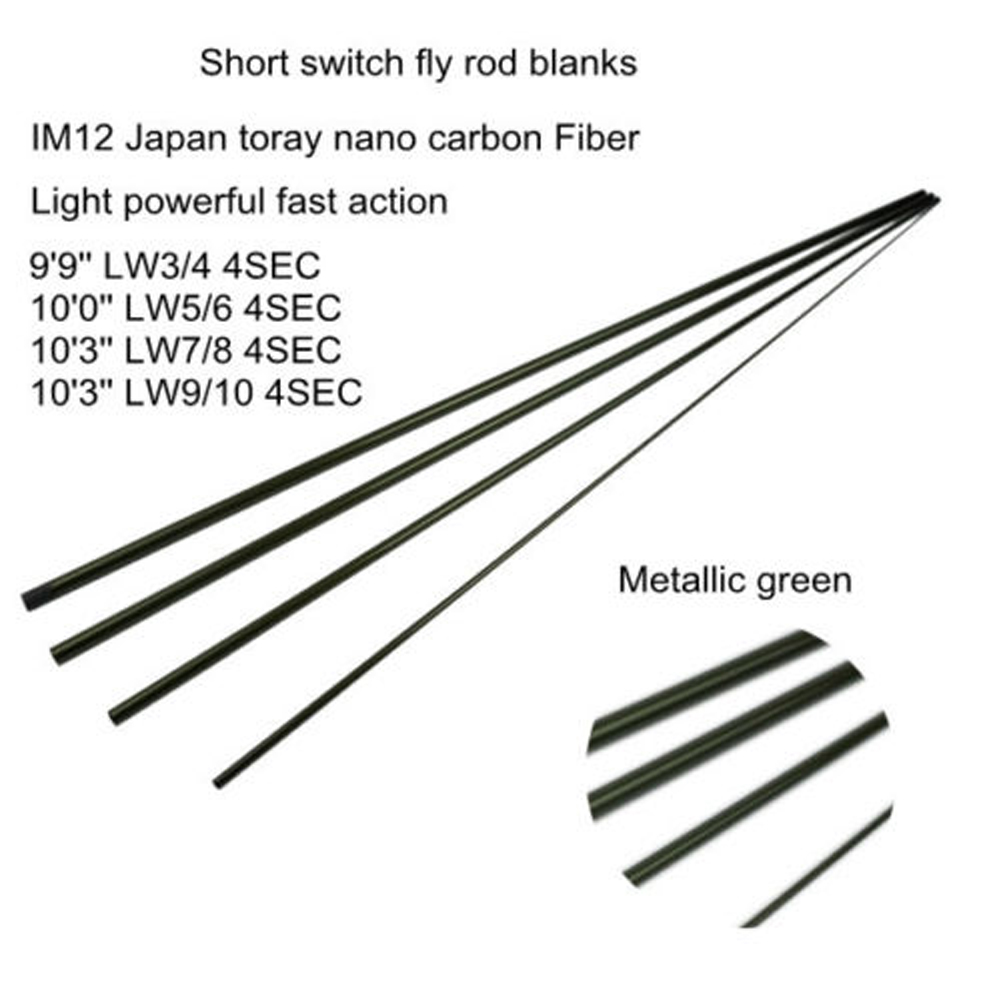 NEW Aventik All Times IM12 Nano Carbon Fiber Short Switch Fly Rods Blanks Fast Action Fishing Rod Blanks aventik 11 3 lw7 im12 nano carbon fiber switch fly fishing rod blanks 4 sections fast action fly rods blank metallic green