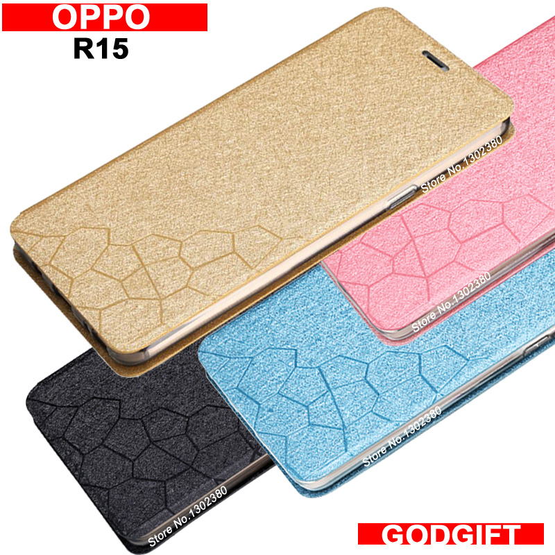 oppo r15 case cover leather luxury water cube pu flip case for oppo r 15 cover case 4 style oppo r15 phone case