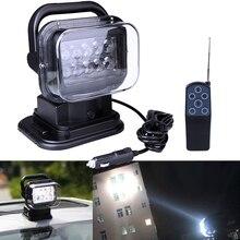 Điều Khiển Từ Xa Không Dây Đèn Pha Tìm Kiếm 50W 12 & 24V 7 Inch Lên Xuống Trái & Phải Xoay Đèn LED cho Xe Thuyền 4X4 Offroad