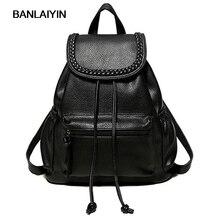 Красивые женские кожаные рюкзаки школьные сумки для девочек-подростков студенты дорожная сумка рюкзак женский элегантный дизайн женская повседневная Mochila